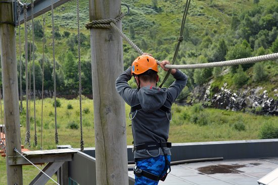Kinlochleven, UK: On the ropes!