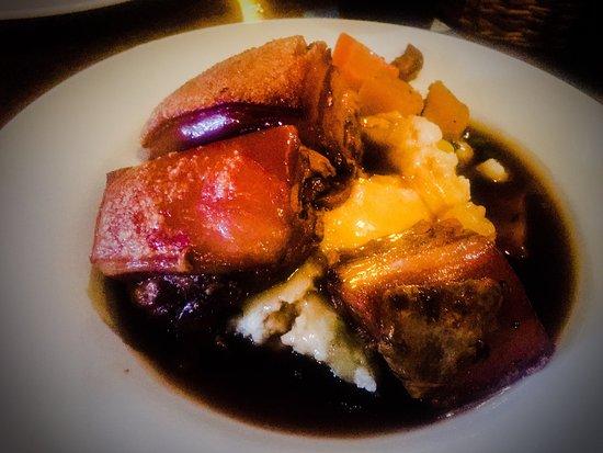 The Royal Oak Braithwaite Restaurant: Belly pork and that