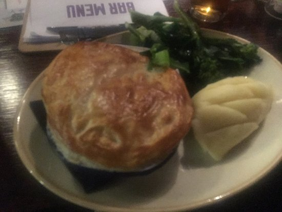 Chester-le-Street, UK: Proper watery pie and that. 'Brisket' in it tough as old boots too. Very disappointed, normally