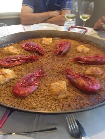 Artana, Spanien: Arroz de carabineros con bacalao