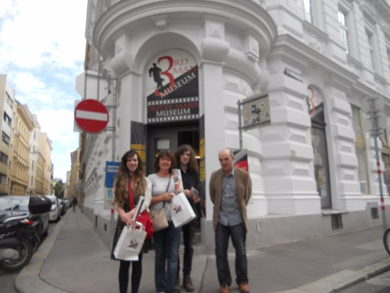 The Third Man Museum: Me and my family outside the museum