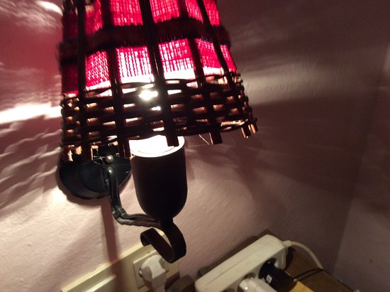 Pension Seiwald : Spider web on the night light