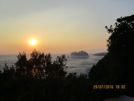 Hotel Gorgona: sunset view on balcony