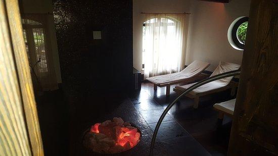 Stare Jablonki, Polen: Jest gdzie odpocząć po pobycie w saunie.