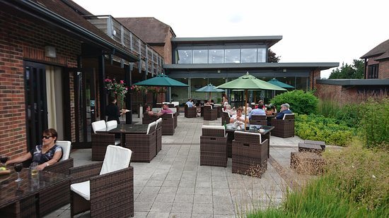 Sutton Scotney, UK: Terrace
