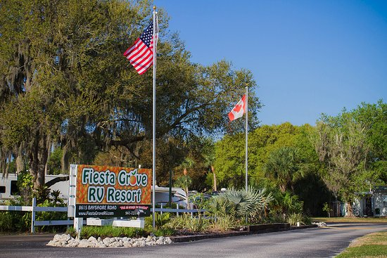 Palmetto, FL: The entrance to Fiesta Grove RV Resort! We hope you see it soon.