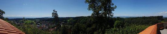 Haus Waldburg mit Vogelschau und Panorama