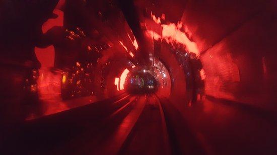 Bund Sightseeing Tunnel: Sezione del tunnel
