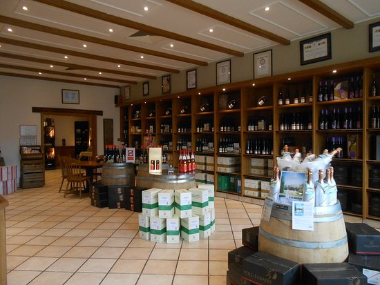 Inside the Domaines Vinsmoselle - Grevenmacher shop/tasting room