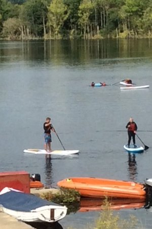 Aqua Sports Company: Me achieving standing on board great fun but make sure you are comfortable with water