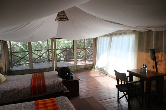 Olowuaru Keri Mara Camp: From the interior of our room looking out.