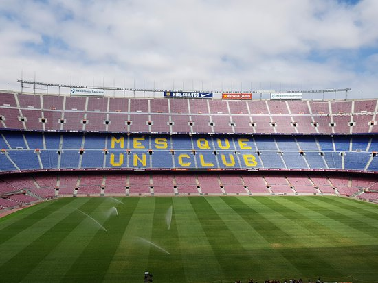 View from the press box - Picture of FC Barcelona, Camp Nou Experience, Barce...