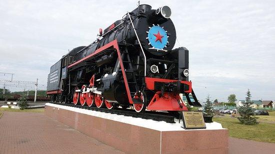 Yurga, รัสเซีย: Паровоз-памятник на станции Юрга