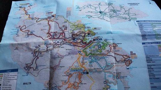 Bus route map - Picture of Malta Public Transport, Valletta ...