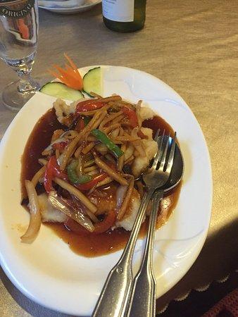 Falun, Suecia: Friterad fisk med kinesisk sås