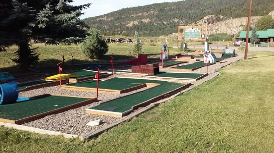 South Fork, CO: Close up of Putt Putt Golf Course