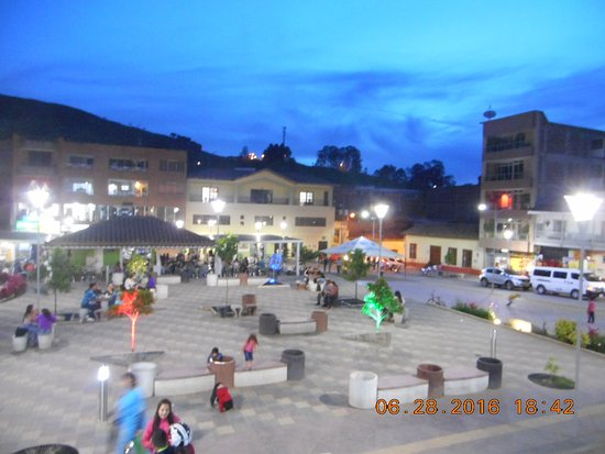 Departamento de Antioquia, Colombia: The square in front of the Iglesia Nuestra Senora del Rosario in Don Matias