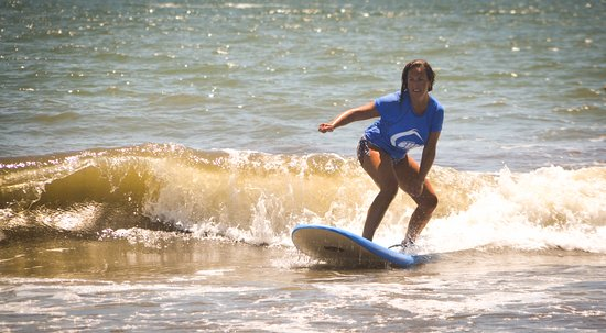 Folly Beach, Carolina del Sur: This was during my second lesson!