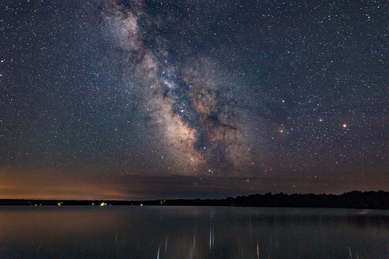 "Mindemoya, Канада: Milky Way over Big Lake from the dock at ""Pathway to Peace"""