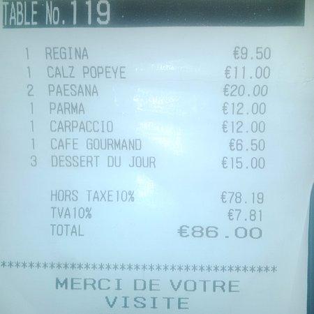 Pizzeria Romeo: excellent rapport qualité quantité service / prix (nous étions 6 personnes)