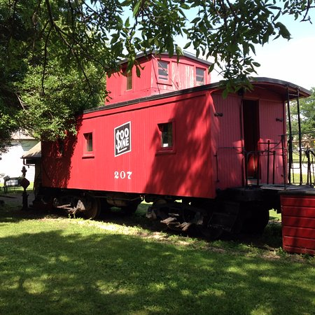 Fond du Lac, WI: Caboose parked at the Galloway House and Village. The site is over 16 acres and has 30 buildings