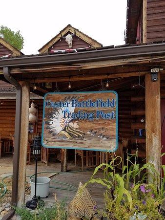 Custer Batttlefield Trading Post: Trading Post Sign.