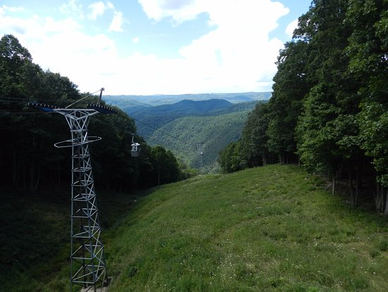 Pipestem, WV: The tram going down to the river