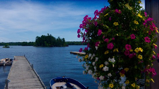 International Falls, MN: View of Rainy Lake from dining deck