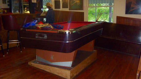 Kettle Falls Hotel Dining: The Pool Table In The Bare Is Level.