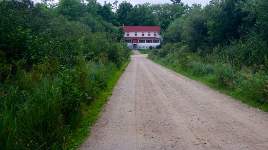 Kabetogama, MN: Path to Kettle Falls Hotel (hotel has golf carts for rides)