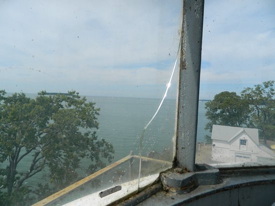 South Bass Island Lighthouse: View from the top - can't get outside
