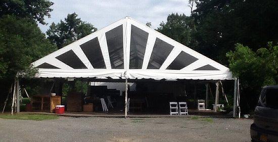 Lambertville, نيو جيرسي: Event tent