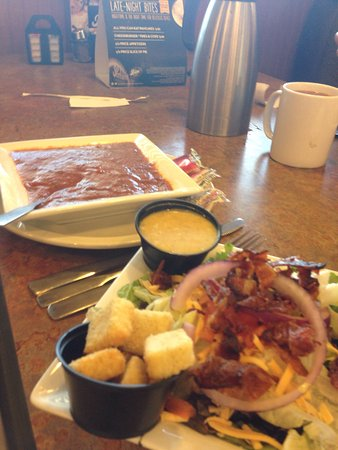 Peoria, IL: 6.99 pick two. Tomato basil soup and BLT side salad.