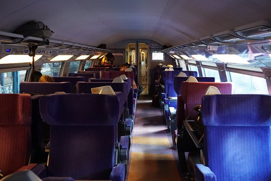 upper deck first class tgv duplex picture of tgv paris tripadvisor. Black Bedroom Furniture Sets. Home Design Ideas