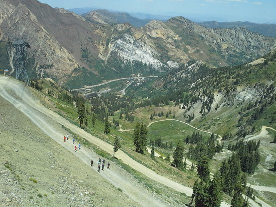 Snowbird, UT: A view from top after tram ride up the mountain