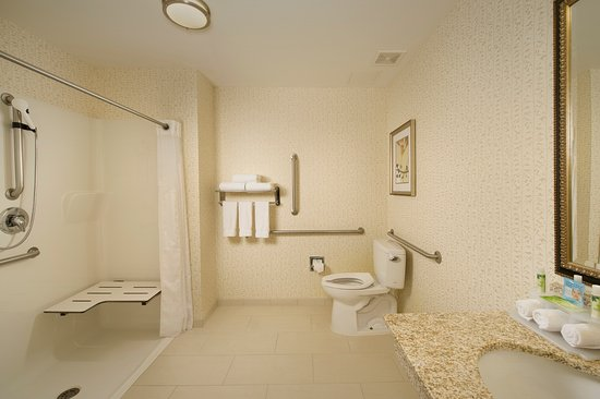 Holiday Inn Express & Suites Alexandria-Fort Belvoir : ADA Guest Bathroom with Roll-In Shower