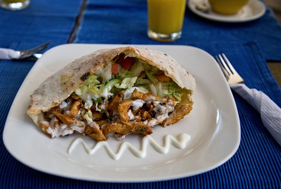 The Blue Heron: Chicken Shwarma