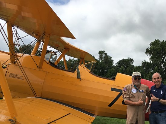 Military Aviation Museum: Happy flying participant!!!!