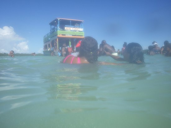 Mount Irvine, Tobago: Everyone enjoying the Nylon Pool.