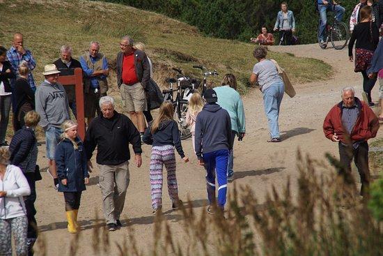 Jutland, Danimarca: Vejen til den tilsandede kirke inde