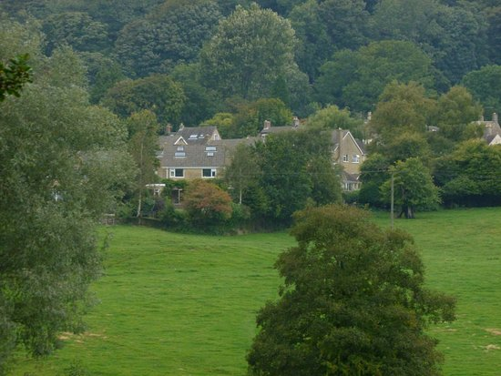 View of Uley when walking over the field