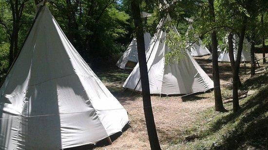 Кастелль-Аццара, Италия: Tende indiane