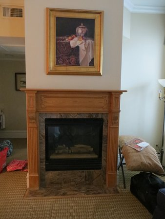 The Cliff House at Pikes Peak: Fireplace. A very nice touch for winter.