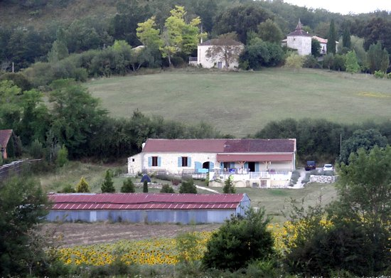 Montcuq, France : The Barn from the other side of the valley