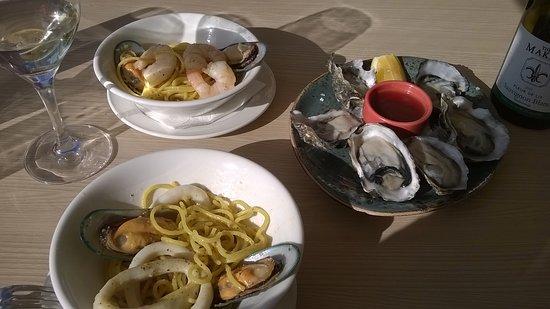 Papamoa, Nya Zeeland: seafood pasta to share