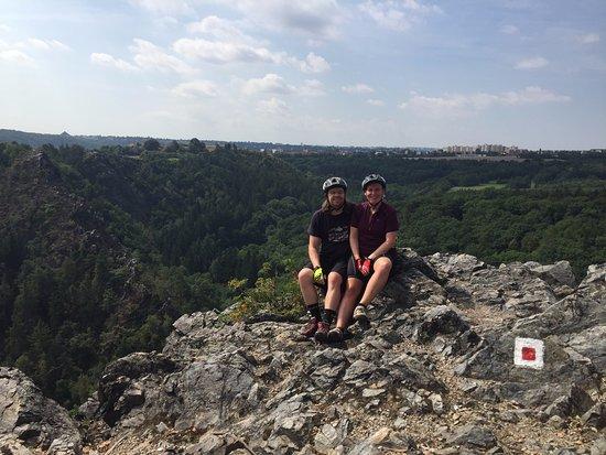 Biko Adventures Prague - Mountain Bike & Outdoor Tours: A climb well worth the effort!