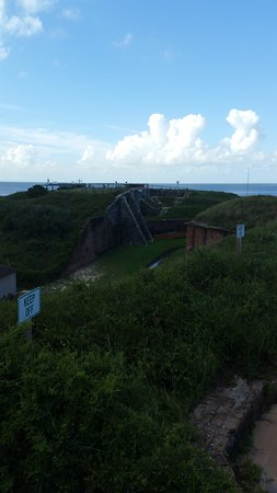Fort Morgan, AL: looking out over site