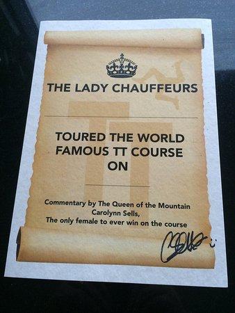 Douglas, UK: The Lady Chauffeurs