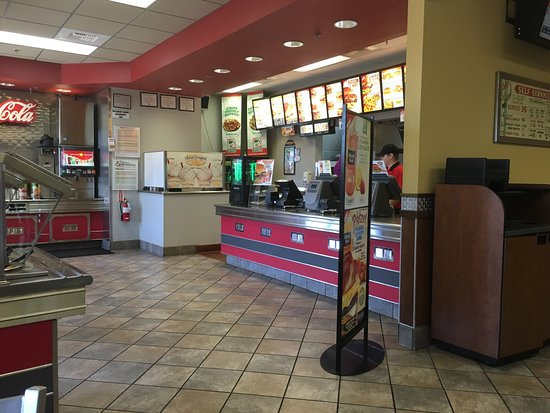Yuba City, Californie : Carl Jr counter
