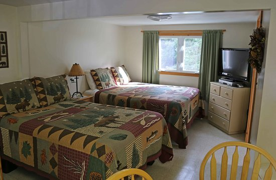 Pittsburg, NH: set of comfortable full size beds